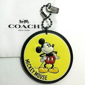 Coach Disney Mickey Mouse Hangtag Bag Charm New
